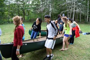 GSA international students go on canoe trip