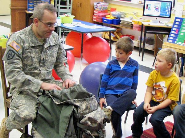 Brooksville students talk with teacher leaving for active duty