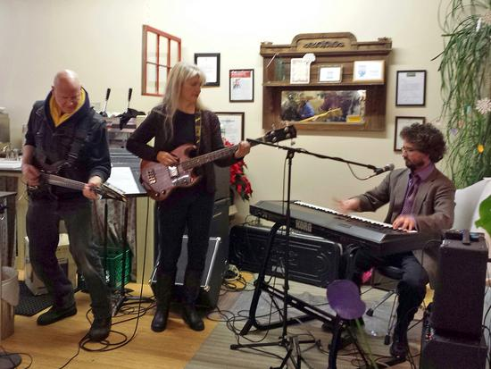 The group Henry Finch plays during Last Night! in Blue Hill