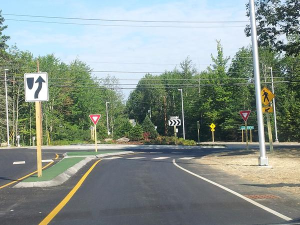 The Tenney Hill roundabout in Blue Hill