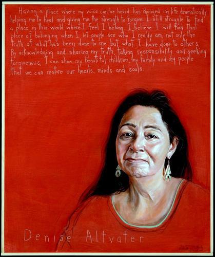 Rob Shetterly's portrait of Denise Altvater