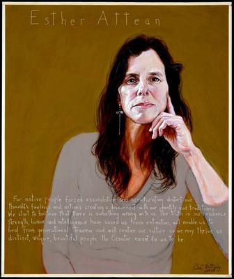 Rob Shetterly's portrait of Esther Attean