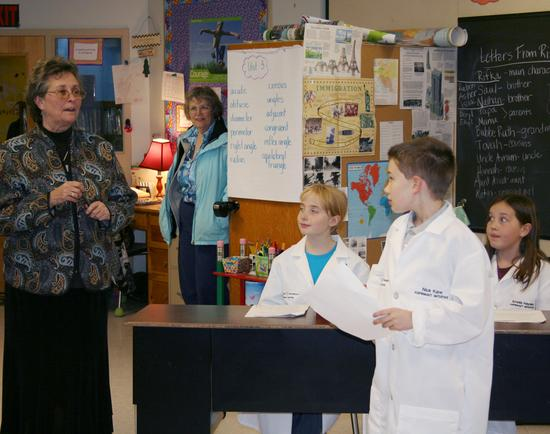 Cathy Lewis introduces fifth-graders